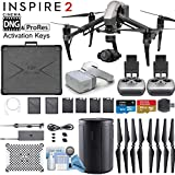 DJI INSPIRE 2 Drone and DJI FPV Goggles Combo with Zenmuse X4S 3-Axis Gimbal/Camera - CinemaDNG & Apple Pro Res License Keys - Dual Remote Bundle