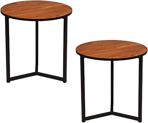 VECELO Round Coffee Side Accent Sofa Table