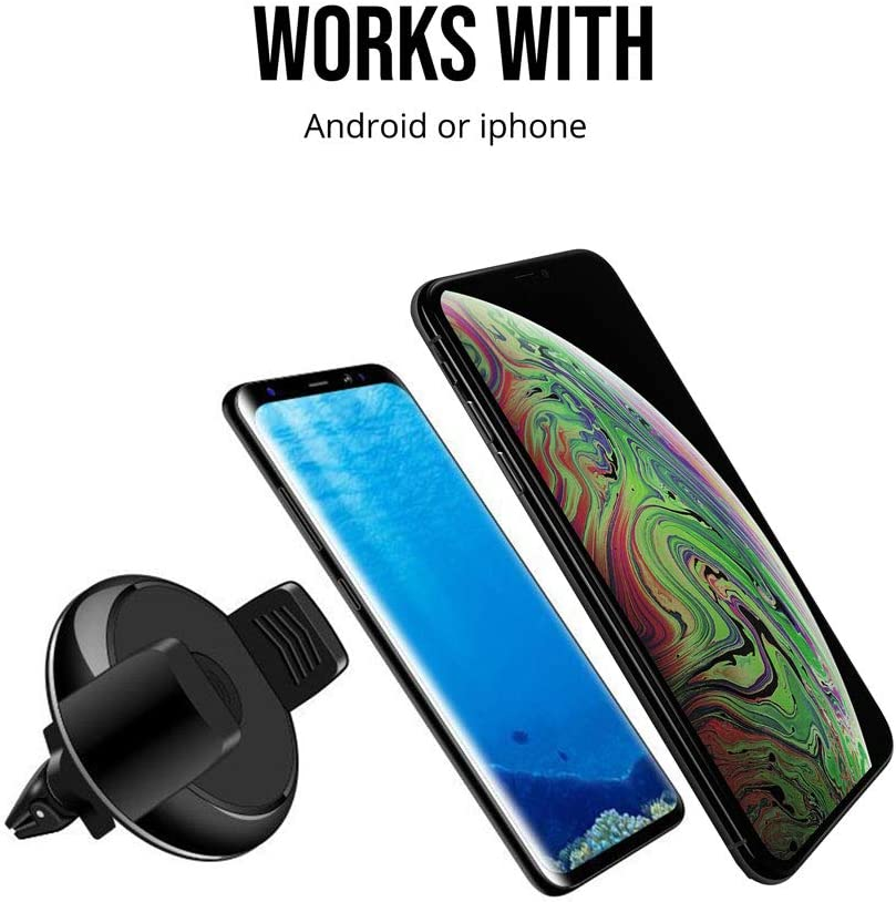 Samsung Galaxy S10+//S10//S10e//S9//S9+//Note9 /& Other Smartphones Compatible with iPhone Xs Max//XR//XS//X//8 NVX VentVolt 5W Wireless Car Dash//Window//Air Vent Mount Charger