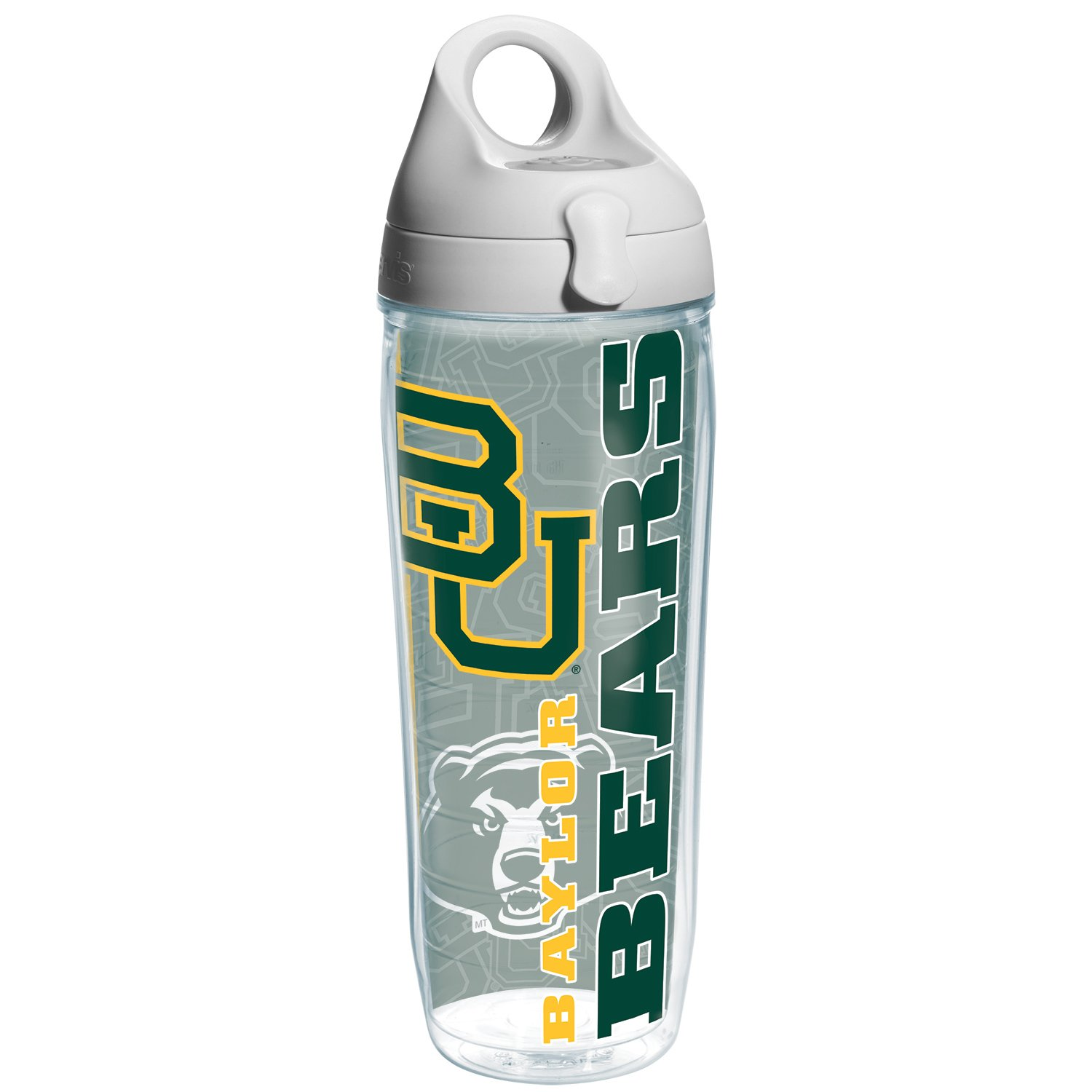 Tervis Baylor College Pride Water Bottle with Grey Lid, 24 oz, Clear