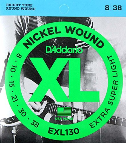 D'Addario EXL130x5 , XL Nickel Rnd Wnd, Extra-Super Light, .