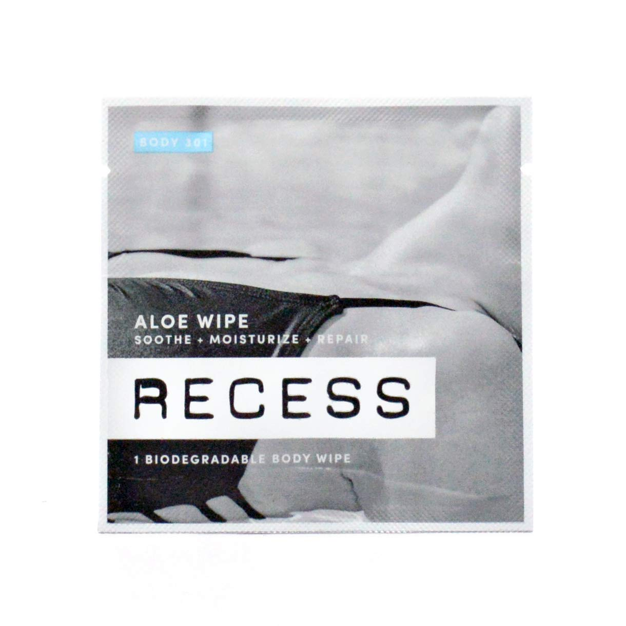 RECESS BODY 301 Aloe Wipes to Soothe Moisturize Sunburn, Windburn and Dry Skin with Witch Hazel Alcohol-Free Wipes For Sensitive Skin 15 Pack