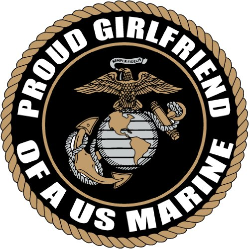 PROUD GIRLFRIEND US MARINE CORPS ARMY DECAL STICKER 5