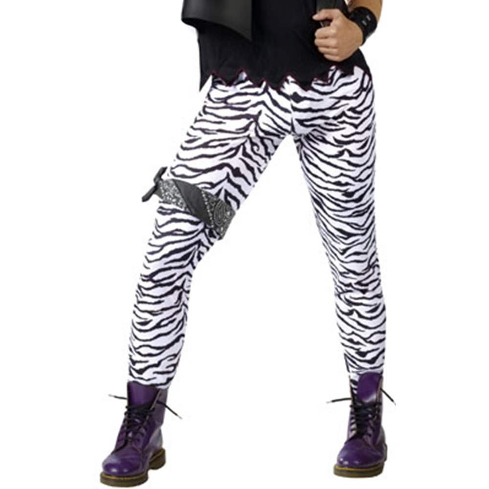 Zebra Glam Rocker Adult Costume Pants Fun World