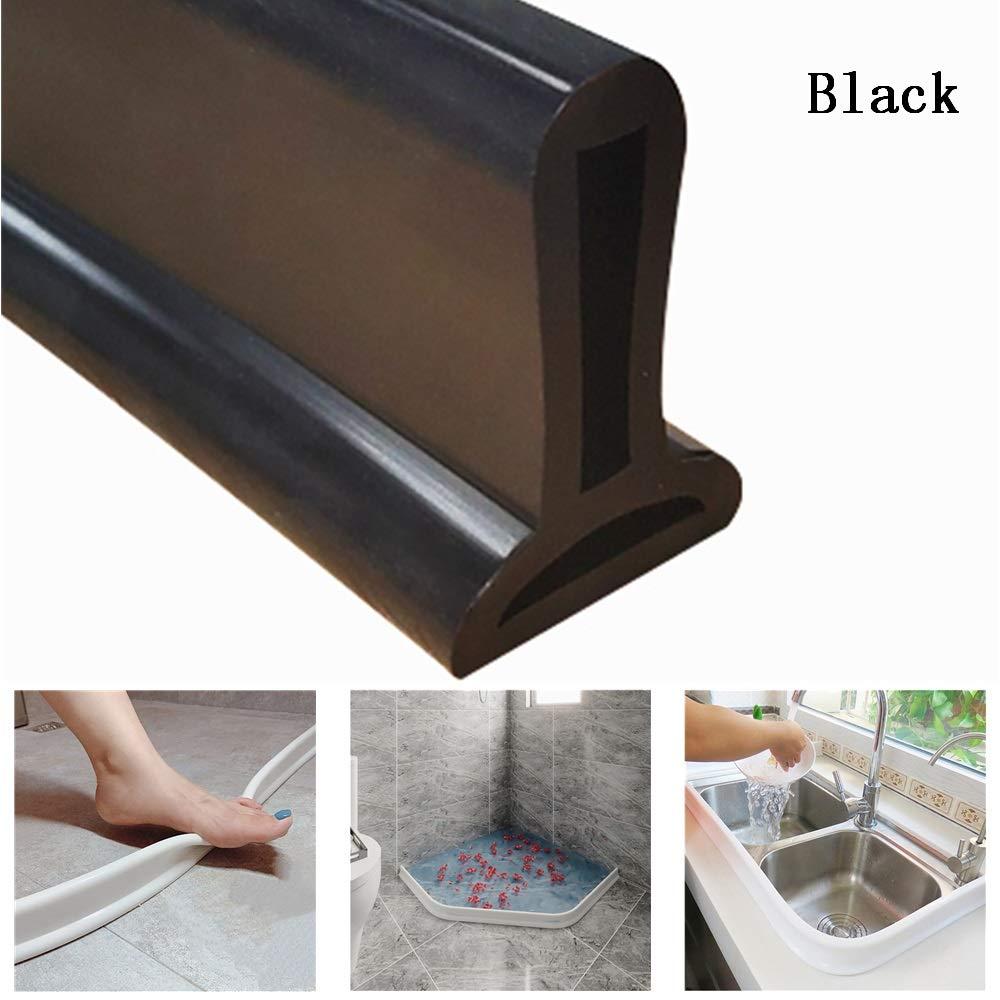 250cm,Trasparente arresto per flusso dacqua con guarnizione per pavimento del bagno per separazione asciutta e bagnata Striscia impermeabile pieghevole in silicone