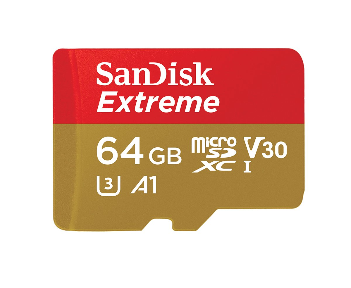 [amazon.de] SanDisk Extreme 64 GB microSDXC Speicherkarte + SD-Adapter Class 10 U3 V30 um 15,99€