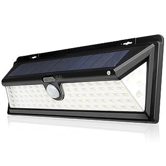 Luces Solares al Aire Libre, 90 Bombillas LED de Lámpara Solar de Pared para Exterior, Impermeable, ...