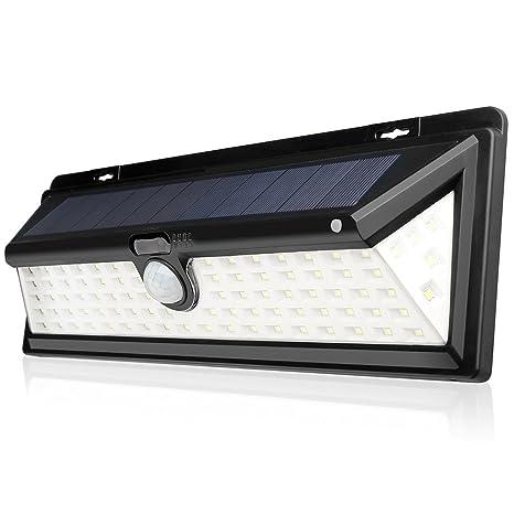 Luces Solares al Aire Libre, 90 Bombillas LED de Lámpara Solar de Pared para Exterior