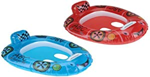 Splash & Play Baby Care Seat Pool Float ABC Racer Car Twin Pack Bundle