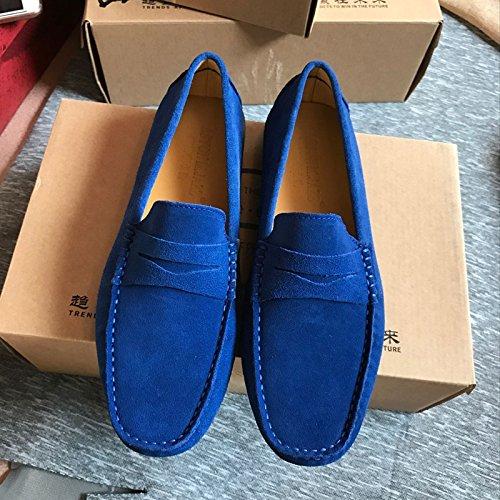 Piselli, scarpe, smerigliato metri, alla moda dei piselli scarpe respirabile a suo agio, guidando pigro scarpe,blu,39