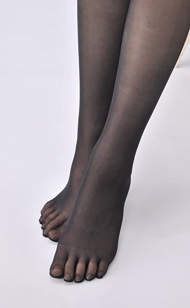 ecd6683261b2a REVEALLE Five Toe Pantyhose, Tights Double Covered Yarn Support, Black L-LL  made in Japan at Amazon Women's Clothing store: