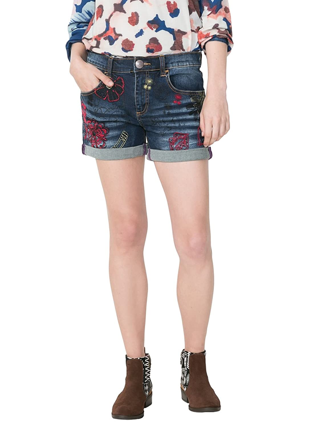 Desigual Damen Short Denim_Dark Wash