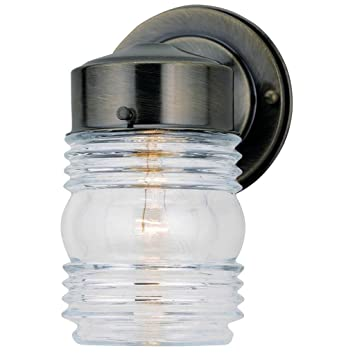 Westinghouse Lighting Corp 66839 AB Jelly Jar Fixture