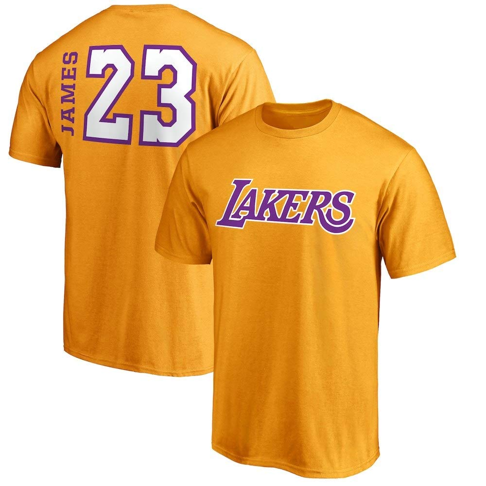 brand new bc31e a66be VF Majestic Lebron James Los Angeles Lakers #23 Men's Big & Tall Side Sweep  Player T-Shirt