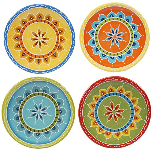 Canape Appetizer Plate (Certified International Valencia Canape Plates (Set of 4), 6.25
