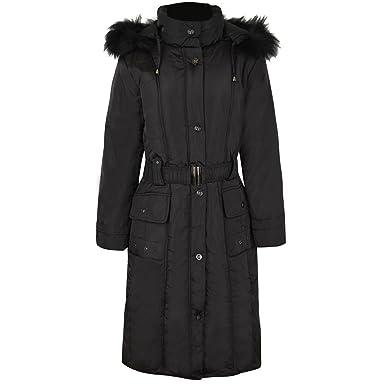 fd0f7b6cf01 Fashion Thirsty Women s Plus Size Faux Fur Hooded Winter Coat at Amazon  Women s Coats Shop