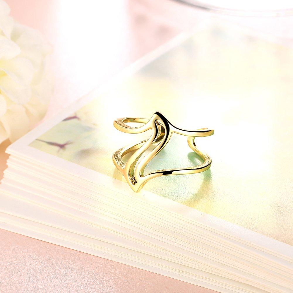 YXYP Impression 1 pcs anillos anillo elegante anillo de moda accesorios de joyer/ía ni/ña regalo de san valent/ín anillo de bodas anillo de lujo anillo rom/ántico
