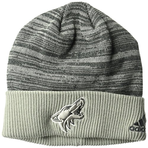 fan products of NHL Arizona Coyotes Adult Men Pro Authentic Travel & Training Cuffed Beanie, One Size, Gray