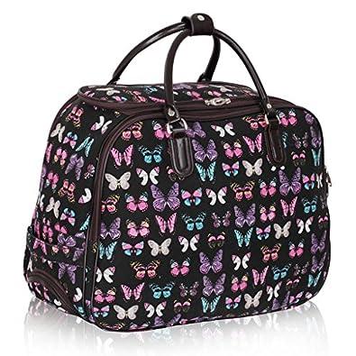 Amazon.com: Ladies Travel Holdall Bags Hand Luggage Womens ...