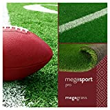MegaGrass MegaSports Pro 6 x 9 Ft Artificial Grass for Pet Sports Agility Indoor Outdoor Green Faux Fake Grass Decor Mat Rug Pad Carpet Turf 54 SqFt 1.25' Tall Blades 63 oz Face Weight