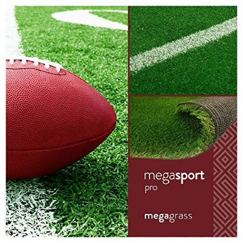 MegaGrass MegaSports Pro 12 x 5 Ft Artificial Grass for Pet Sports Agility Indoor Outdoor Green Faux Fake Grass Decor Mat Rug Pad Carpet Turf 60 SqFt 1.25