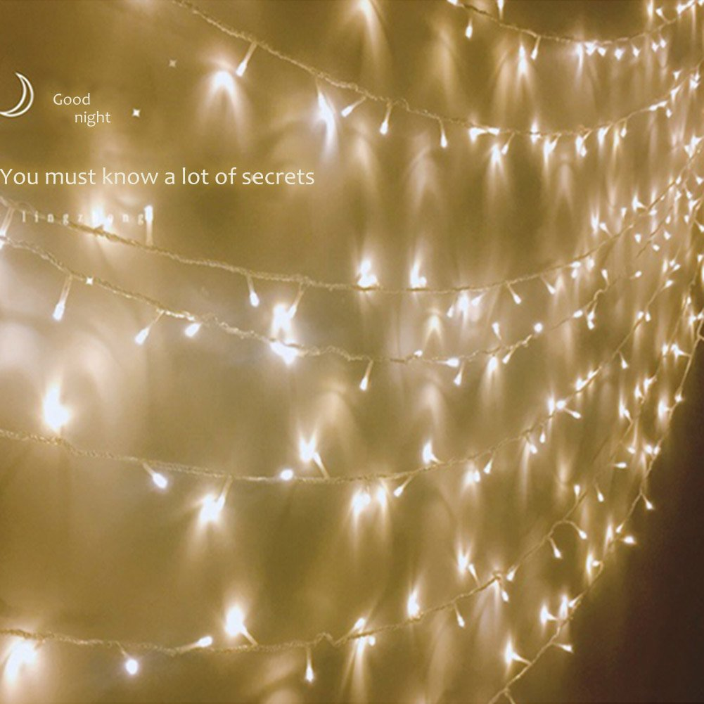 Lily's Gift LED String Lights with 66ft 200LED 8 Modes Irregular Firefly Starry String Light for Patio, Garden, Yard, Square, Chritmas, Wedding Decor (Warm Light) by Lily's Gift (Image #9)