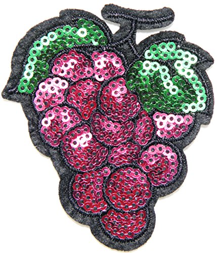 Baseball Costume Womens Diy (Grape Fruit Sequin Shine Shiny Patch Sew Iron on Embroidered Applique Craft Handmade Baby Kid Girl Women Sexy Lady Hip Hop Cloths DIY Costume)