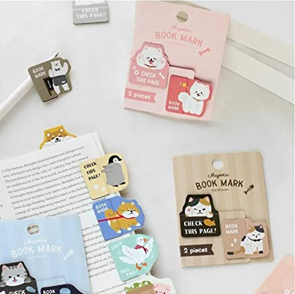 Bookmark Novelty Magnet Mini Bookmark Clips Cute Cartoon Animal Book Markers For Gifts Stationery Office School Supplies