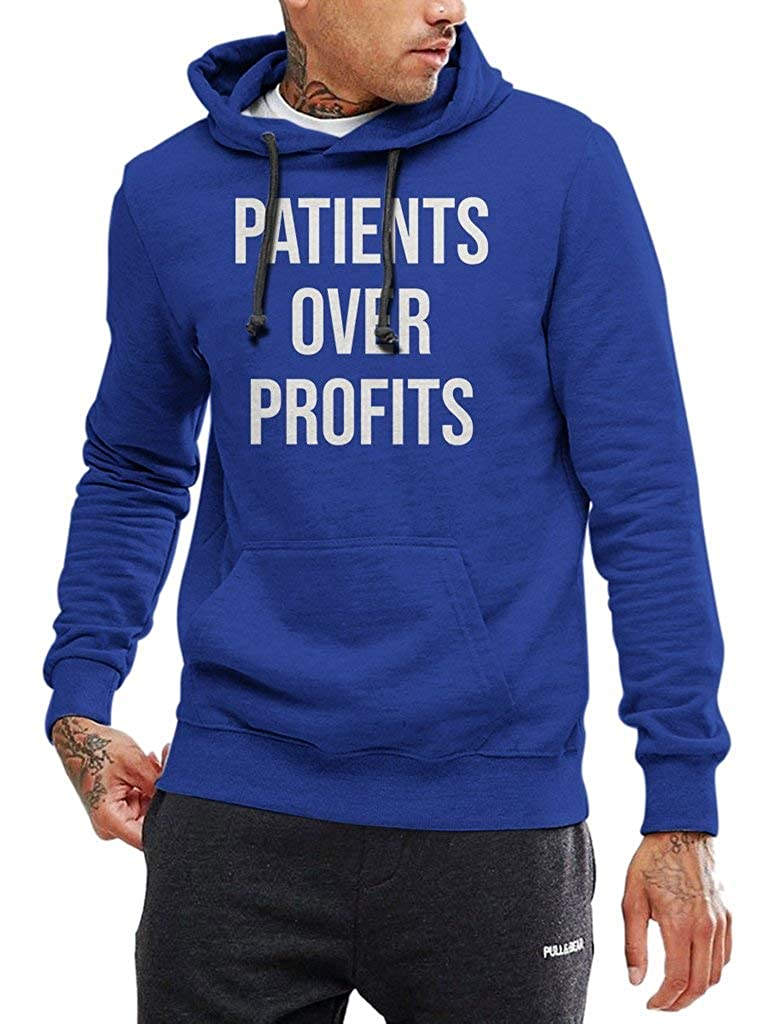 Funny Vintage Trending Awesome Shirt for Funny People Unisex Style Hoodie SMLBOO Patients Over Profits
