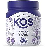 KOS Organic Acai Powder - Natural Antioxidant Berry Superfood Powder - Polyphenol Abundant, Anti Aging, Non-GMO - Organic Aca
