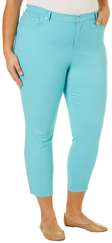 7f9133a4938 Gloria Vanderbilt Plus Size Amanda Skinny Snap Ankle Jean