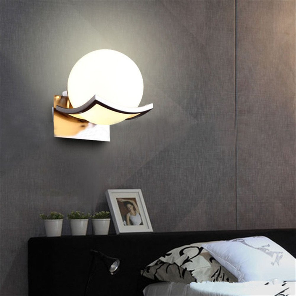 Chrome Ball Wall Lights : Light Ball Modern LED Sconce Lighting, Contemporary Wall Lights Flush Chrome New eBay