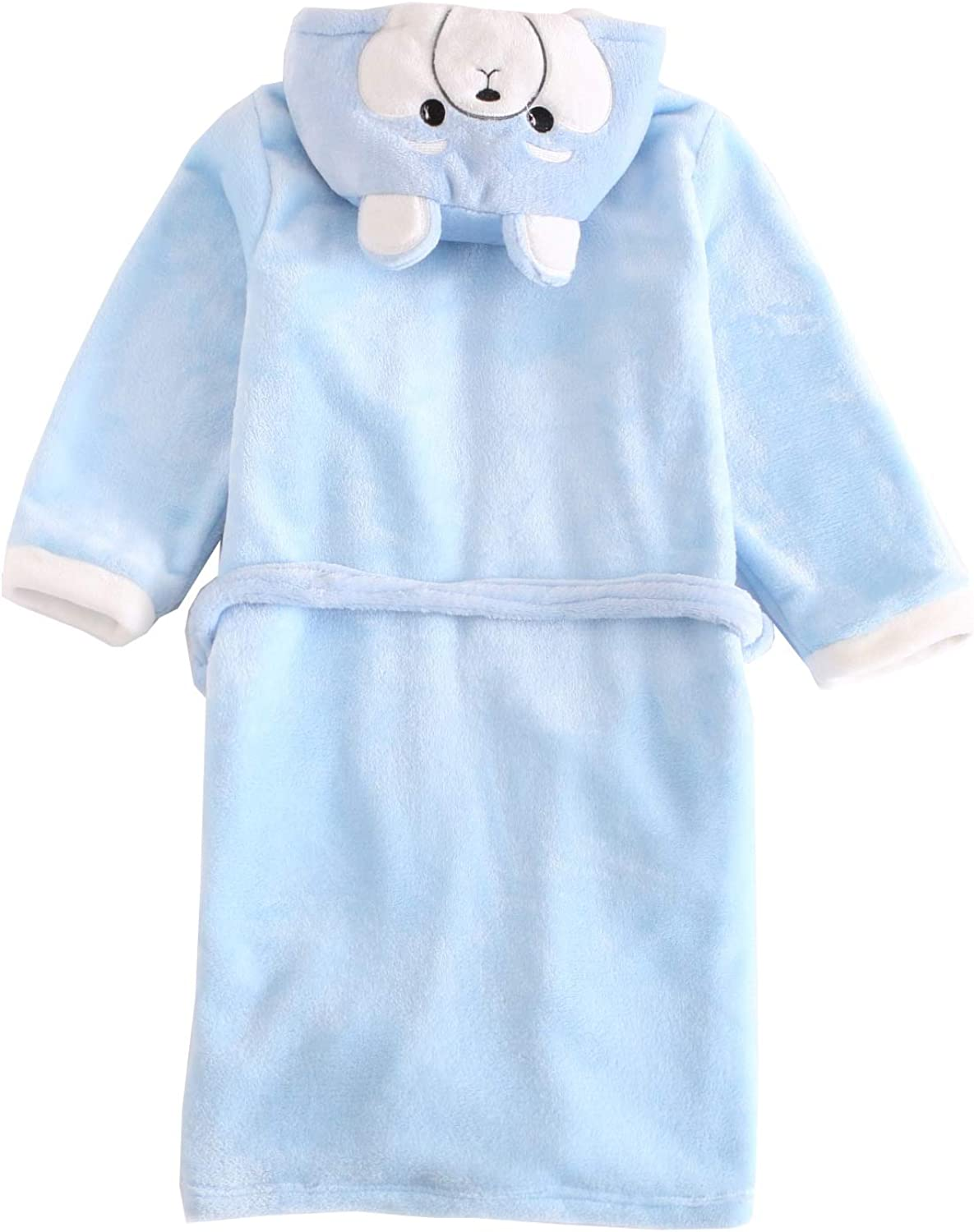 Zegoo Boys /& Girls Animal Hooded Bathrobe Bunny /& Bear Pyjamas Kids Size 3Y - 12Y