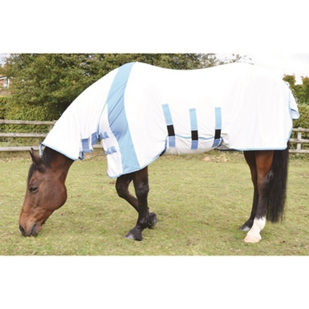 bluee 6' 0\ bluee 6' 0\ Jumpers Horse Line Jhl Ultra Fly Relief Combo Rug White bluee