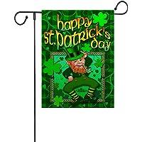 DierCosy Día de Doble Cara Impresa Jardín Banderas San Patricio Colgando la Bandera Adorno de la