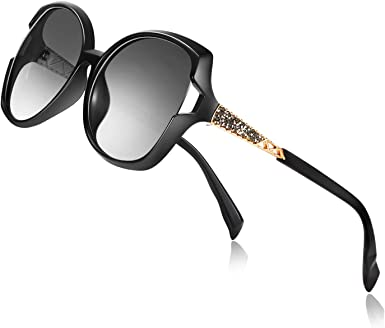 Womens Oversized Sunglasses UV400 Lens Ladies Designer Vintage Eyewear Glasses