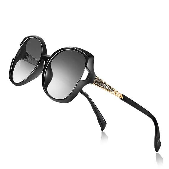 PORPEE Sunglasses for Women, Polarized Eyewear with Retro Oversized Frame-UV400 Protection Nylon Lens