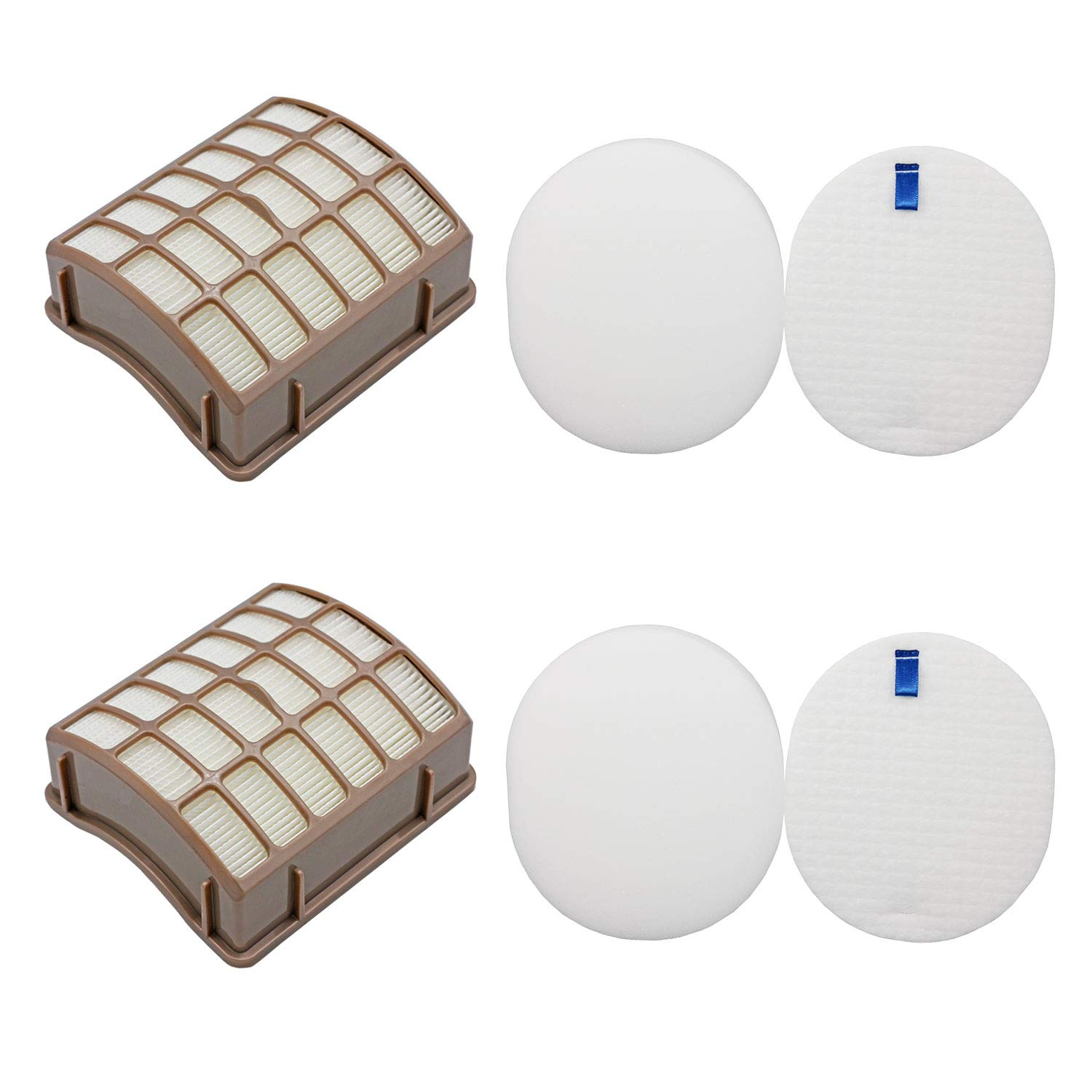 Lemige Vacuum Filters Replacement Set for Shark Navigator Rotator Professional NV70 NV71 NV80 NV90 NV95 UV420, Compare to Part XHF80&XFF80, 2 HEPA Filters +2 Foam Filters + 2 Felt Filters 61M1yO2dLvL