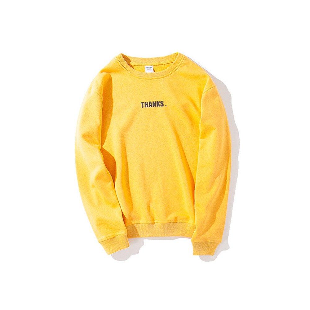 Ndsoo - Hoodies - männer Pullover - Hoodies Kopf schreiben der Jugend japanischen Stil Pullover,gelb,m 713443