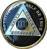 31 Year Classic Black AA Alcoholics Anon