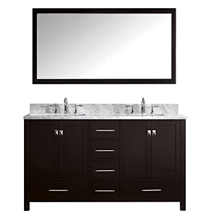 Virtu USA GD 50060 WMSQ ES Caroline Avenue 60 Inch Bathroom Vanity