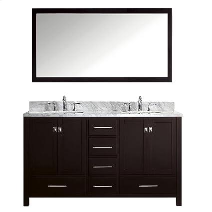 Attirant Virtu USA GD 50060 WMSQ ES Caroline Avenue 60 Inch Bathroom Vanity
