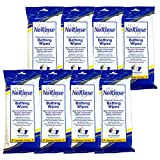 (Set/8) No Rinse Body Wipes - Caregiver Bathing Cloths 64 Wipes Total