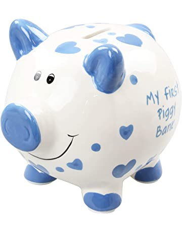 Round Piggy Bank Cartoon Creative Money Saving Box Coin Storage Case with Lock