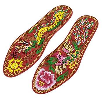 Amazon.com: Mujeres Par Bordado Phoenix cojines del Zapato ...
