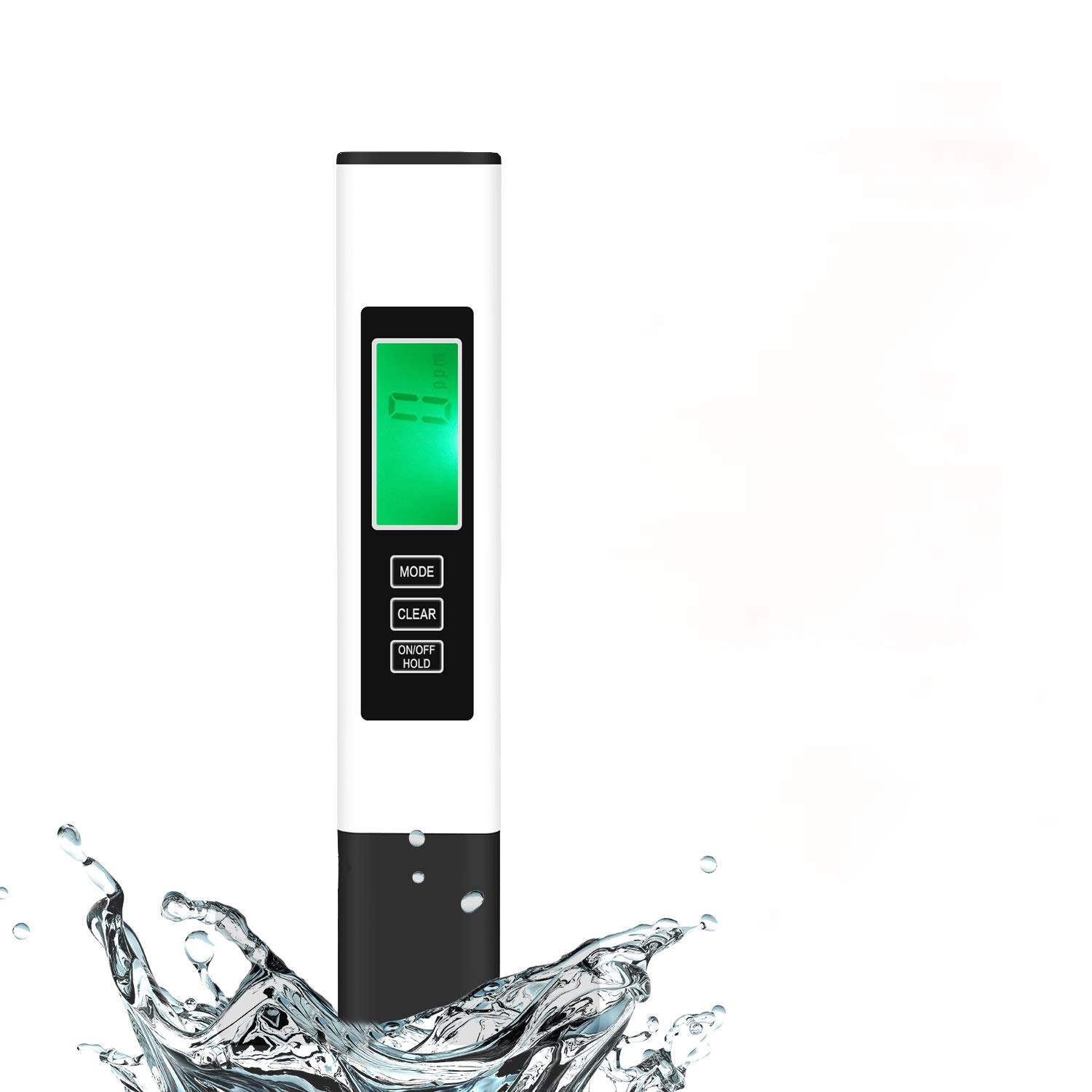 TDS Meter Digital Water Tester, Water Quality Tester, TDS Temperature & Conductivity Meter 3 in 1, Hydroponics EC Meter, ppm Meter for Home ATC Drinking Water, Aquarium and More