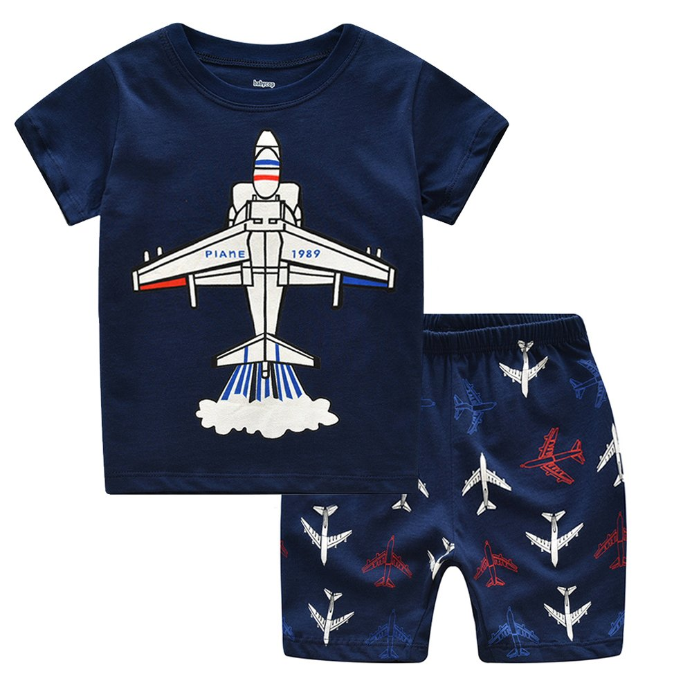 LaLaMa Toddler Boys\' Cotton Clothing Short Baby Sets