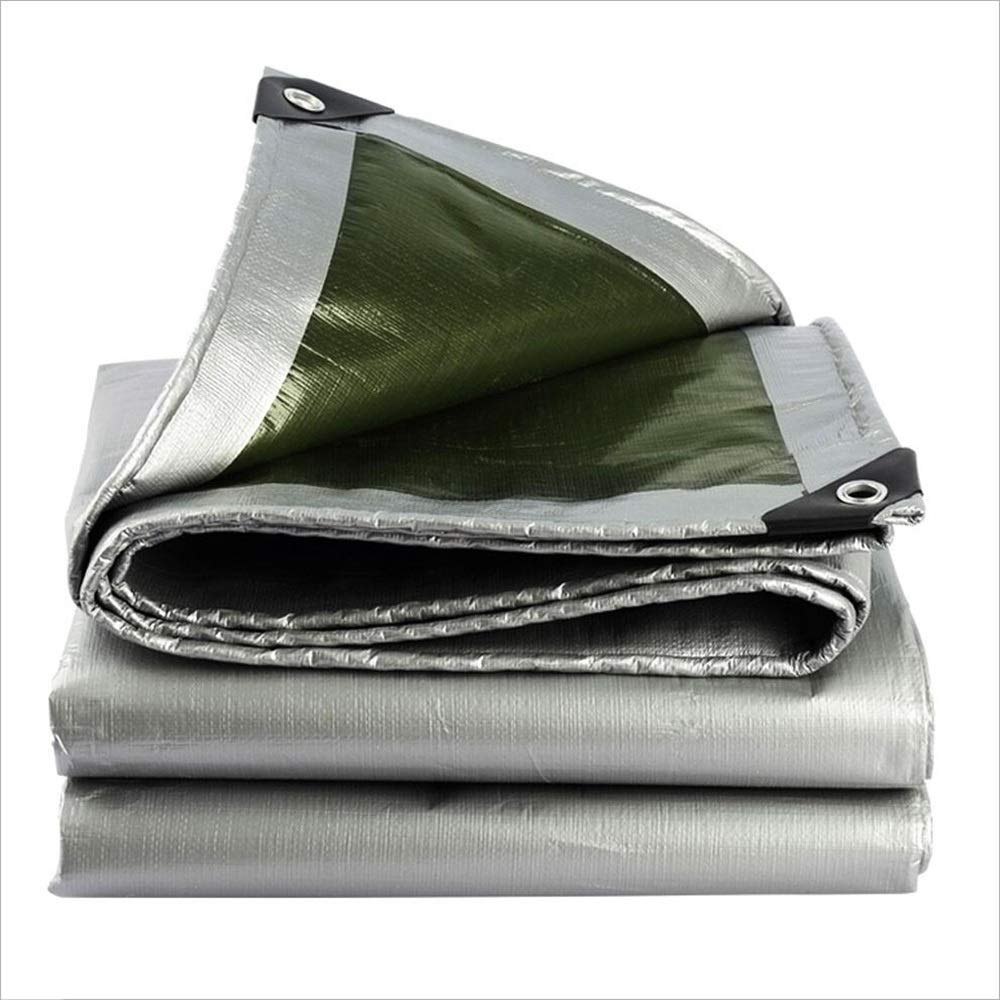 TARPAULIN Plane wasserdichtes Tuch, Silberne PVC-Starke staubdichte Anti-tragen Plane-Markise-Tuch-Einfassungs-Leinwand 200G   M2, 1.5m-8m (größe   6mX8m)