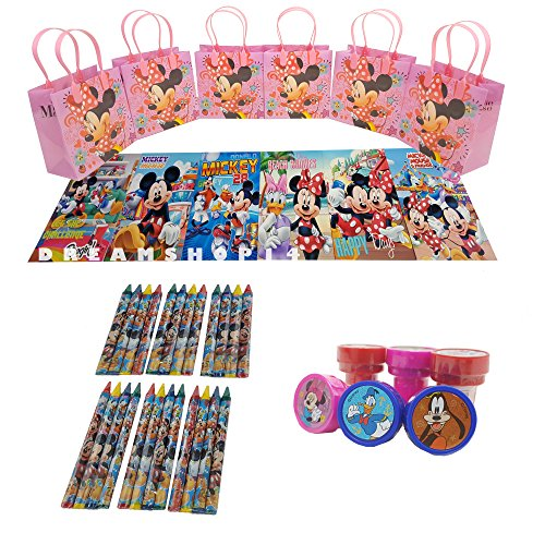 Minnie Mouse Goody Bag w/Coloring Book Party Favor Set (42Pcs) FV
