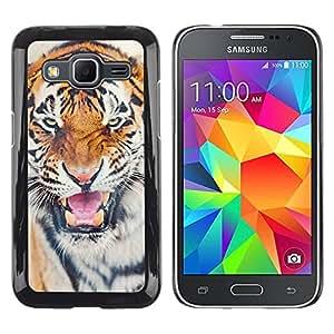 TopCaseStore / la caja del caucho duro de la cubierta de protección de la piel - Angry Cat Big Animal Africa - Samsung Galaxy Core Prime SM-G360